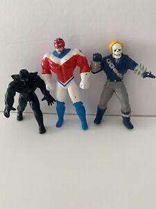 marvel applause pvc Vtg Comics Ghost Rider Black Panther Lot Figures