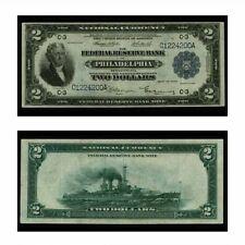 USA FRBN Battleship Philadelphia $2 1918 Fr-754 Extra Fine