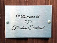 Norwegian New Heart Design Door Plaque Personalised With Family Name