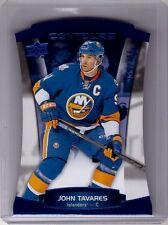 JOHN TAVARES 15/16 Upper Deck Contours Blue Sapphire Parallel #d /499 SP Card 21