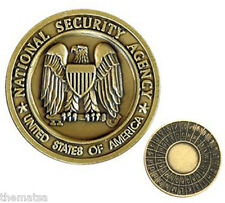 NATIONAL SECURITY SERVICE NSA BRONZE MILITARY  CHALLENGE COIN