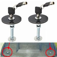 2x JDM CARBON FIBER RACING MOUNT BONNET HOOD PINS LATCH  KEY LOCKING KIT FIT CAR