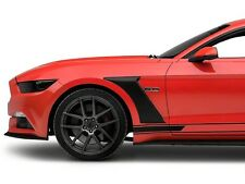 Mustang GT & EcoBoost S550 GT350 Style Front Fender Scoops   2015, 2016, 2017