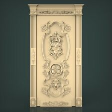 (1188) STL Model Door for CNC Router 3D Printer Artcam Aspire Bas Relief