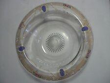 Antique Art Nouveau Painted Gold? Overlay Bowl Heisey Art Deco? Rose Blue Egg