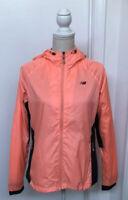 New Balance Women's Size M Lightweight Windbreaker Jacket Orange EUC