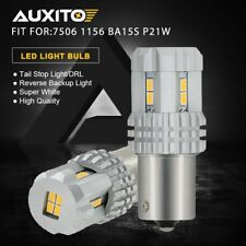 AUXITO 7506 1156 BA15S P21W White LED Tail Backup Reverse Parking Light Bulb DRL