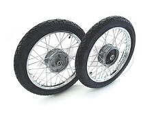 Complete wheels Set chrome + Tyres Vee Rubber 094 for Simson KR51/1 Schwalbe KR