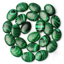 "13x18MM Natural Green Malachite Oval Gemstone Loose Beads 15"" Strand AAA"