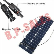 30W 12V Mono Semi-Flexible Solar Panel Battery Charger For RV Boat Smart Car