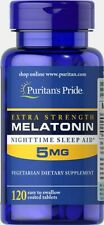 Melatoni 5 mg 120 tablets Puritans Pride - fast delivery to European countries