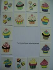 CUPCAKE THEMED TEMPORARY TATTOO - PARTY LOOT BAG FILLERS