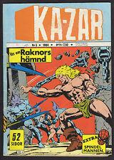 1984 SWEDISH MARVEL KA-ZAR COMIC 1984 #NR 3