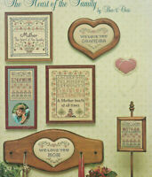 Mother Mom Grandma Heart of the Family Sampler Cross Stitch Pattern Leaflet