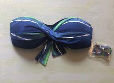 9625b2e91a365 Tommy Bahama Twisted Front Bandeau Blue Green Bikini Swim Top Size S  89