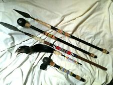 More details for vintage tribal decorative african beaded spears,flyswatter,tomahawk & knobkerrie
