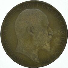 1906 ONE PENNY COIN EDWARD VII GREAT BRITAIN    #WT16236