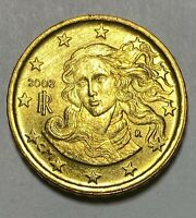 2002 Italy 10 Cents Euro B Type Circulated Nordic Gold Coin  (3170)