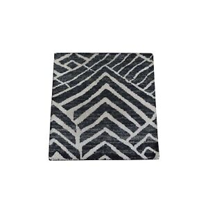 """2'2""""x2'2"""" Pure Silk with Textured Wool Square Hand Knotted Oriental Rug R49780"""