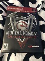 Mortal Kombat: Deadly Alliance (Sony PlayStation 2, 2002) GREATEST HITS. CIB