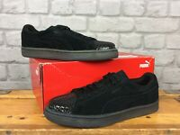 PUMA LADIES UK 5 EU 38 BLACK JELLY SUEDE TRAINERS RRP £70