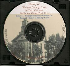 History of Webster County Iowa and Fort Dodge (2 Volumes) + Bonus Book