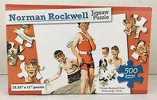 Norman Rockwell Jigsaw Puzzle Cousin Reginald Goes Swimming 1917 NEW 500 Pieces