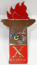 FUJI XEROX RED FLAME TORCH SYDNEY OLYMPIC GAMES 2000 PIN BADGE COLLECT #638