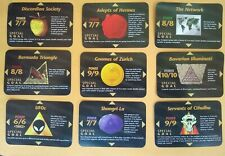 Illuminati New World Order INWO ALL 9 Special Goal Cards UFOs Shangri-La