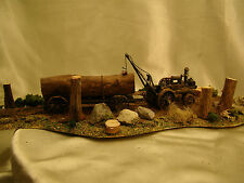 1 Steam Engine Logging Tractor from the Old Times -custom weathered Diorama- HO