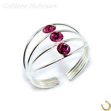 ZEHENRING Pink Kristall 925 Echt Silber Zehring Geschenkidee / z-661