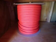 "1/2"" x 500 ft. Hollow Braid Polyethylene Rope. Red. Made in Usa."
