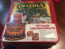 Sealed Vintage 1992 Crayola Trade Mark Collectors Tin; Crayons Bear, 64 Crayons