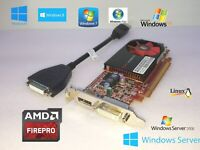GENUINE HP PRODESK 400/480 G1 MT VIDEO GRAPHICS CARD DVI Displayport + Adapter