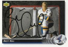 BRETT HULL autographed trade card