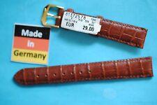 CINTURINO OROLOGIO 16 mm KROK goffratura Marrone VON KAUFMANN MADE IN GERMANY