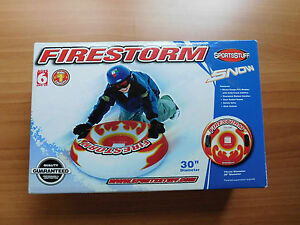 "SNOW TUBE FIRESTORM SPORTSTUFF NIB 30"" DIAMETER AGES 6 + WINTER SLED SKI"