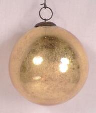 Antique Kugel Christmas Ornament Gold Ball Mercury Glass German 2.75in. #164