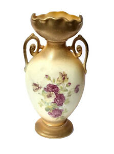 Vase Vintage Collectible Rare Victoria Carlsbad Austria Porcelain Vase #276