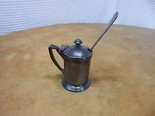 Vintage! International Silver Co.Silverplate Mustard Cup/Jar #0211c