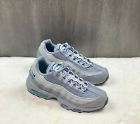 Nike Men's Air Max 95 Sneakers Shoes Retro Logo Grey Aqua Blue CV1635-001 Sz 9