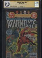 Adventure Comics #464 CGC 9.0 3x SS Len Wein + Paul Levitz + Joe Staton AQUAMAN