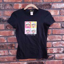 Paul Frank for Andy Warhol Women's Sz S Black Pop Art Graphic T-shirt Tee