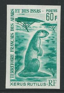 Afars & Issas 1967 Colour Trial Imperf Proof - 60Fr Unstriped ground squirrel