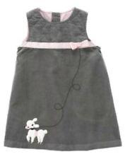 NWT 18M GYMBOREE GIRLS TRES FABULOUS GRAY VELVET JUMPER DRESS POODLE PINK RIBBON