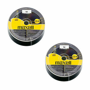 20 Maxell CD-R Discs Recordable 700 MB 80Min (52x) CDR Data & Music Shrink Wrap