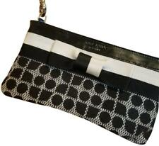 Kate Spade Patent Leather & Canvas Classic Noel Chrissy Wristlet