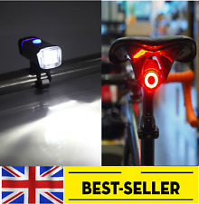 front powerful USB led + rear egg all rechargeable lights set -flash bike light
