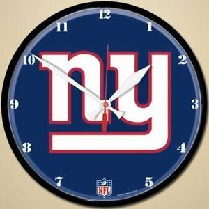 """New York Giants Logo on 12"""" Round Wall Clock by WinCraft"""