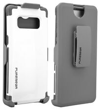 PureGear White Dualtek Extreme Rugged Case + Belt Clip for Samsung Galaxy Note 8